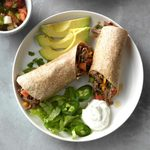Pressure Cooker Beef Burritos with Green Chiles