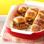 Bacon Cheeseburger Slider Bake