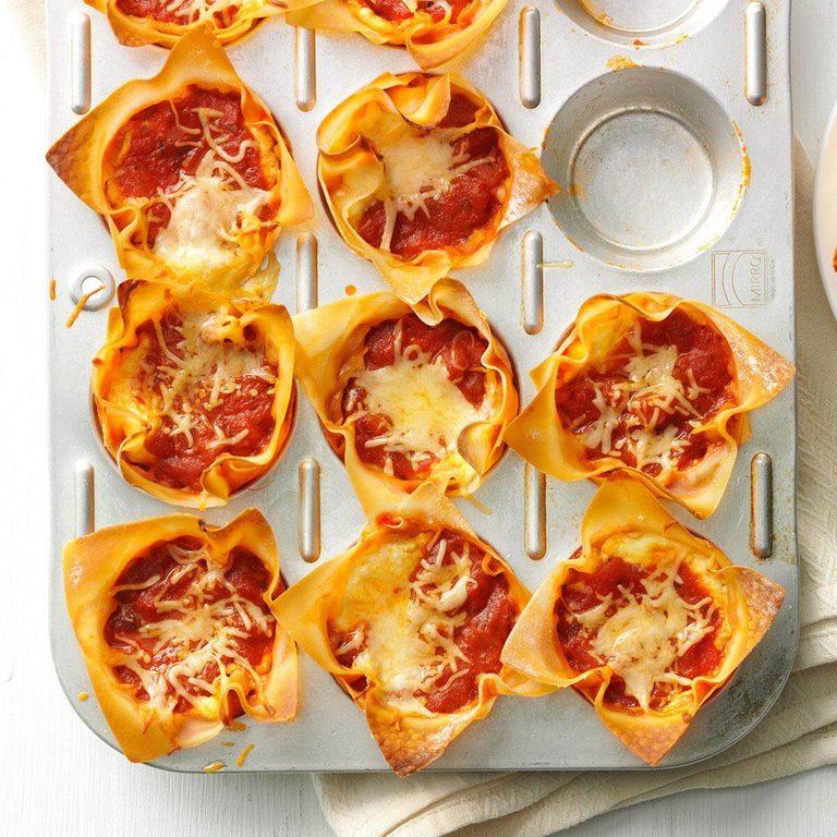 Muffin Tin Lasagnas