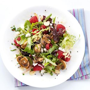 All-Spiced Up Raspberry and Mushroom Salad