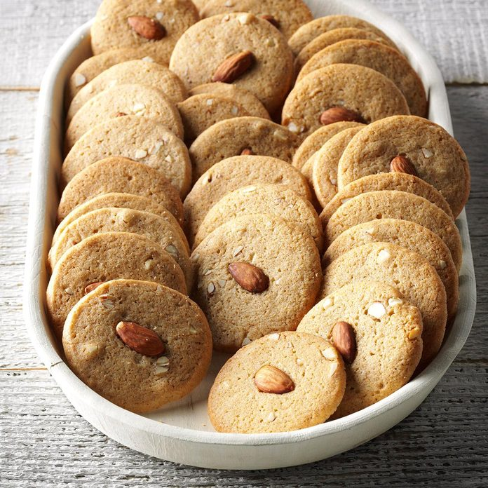 Almond Icebox Cookies