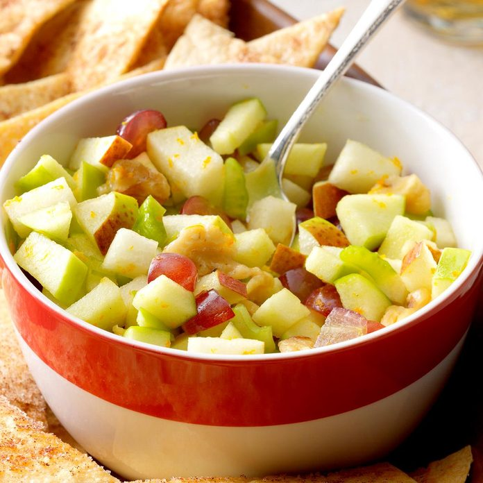 Apple Pear Salsa with Cinnamon Chips