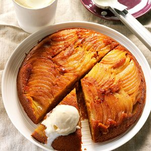 Apple-Pumpkin Upside-Down Cake