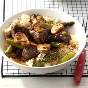 Asparagus Beef Saute