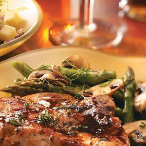Asparagus, Mushrooms and Peas
