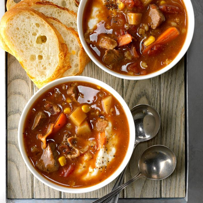 Day 9: Bacon-Beef Barley Soup