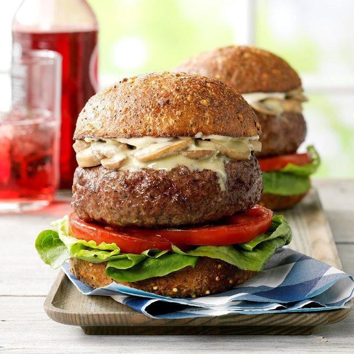 Bacon-Blue Cheese Stuffed Burgers