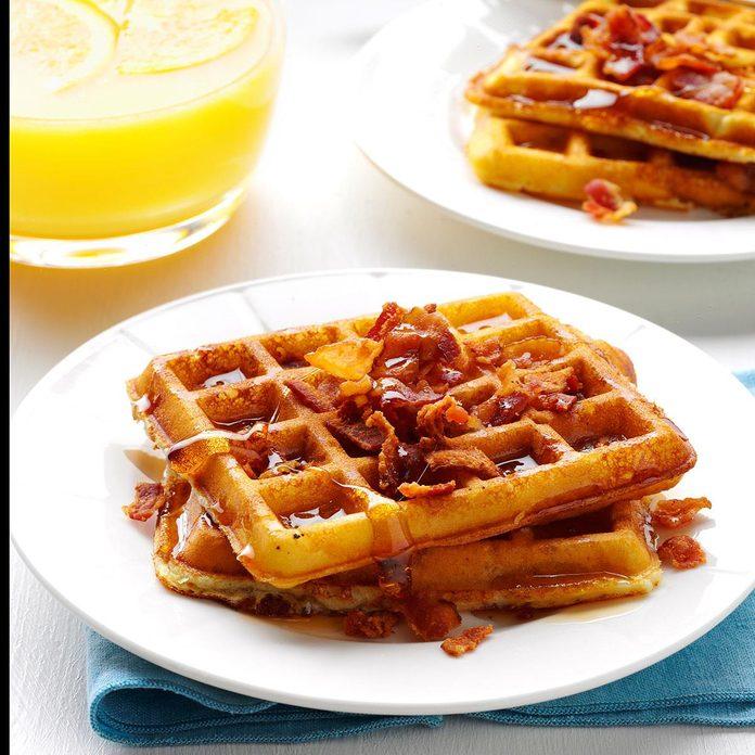 Bacon Potato Waffles