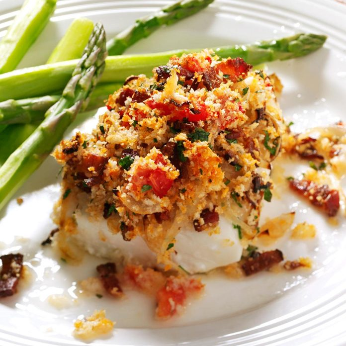Bacon & Tomato-Topped Haddock