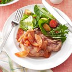 Baked Pork Chops with Apple Slices