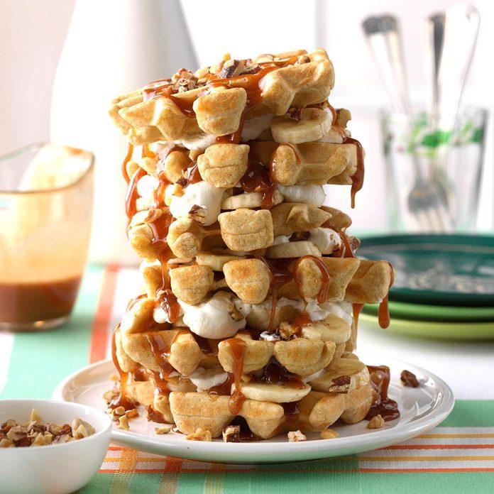 Banana-Nut Waffle Cake