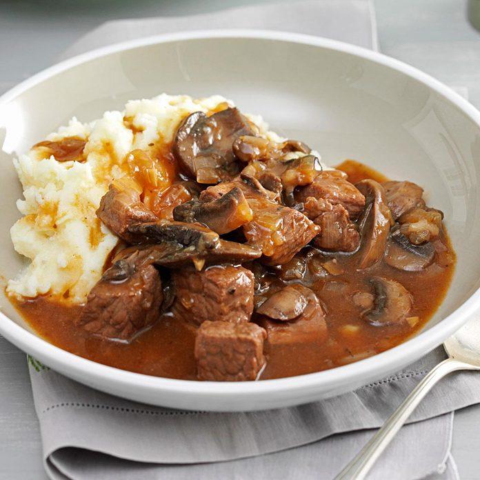 Beef & Mushroom Braised Stew