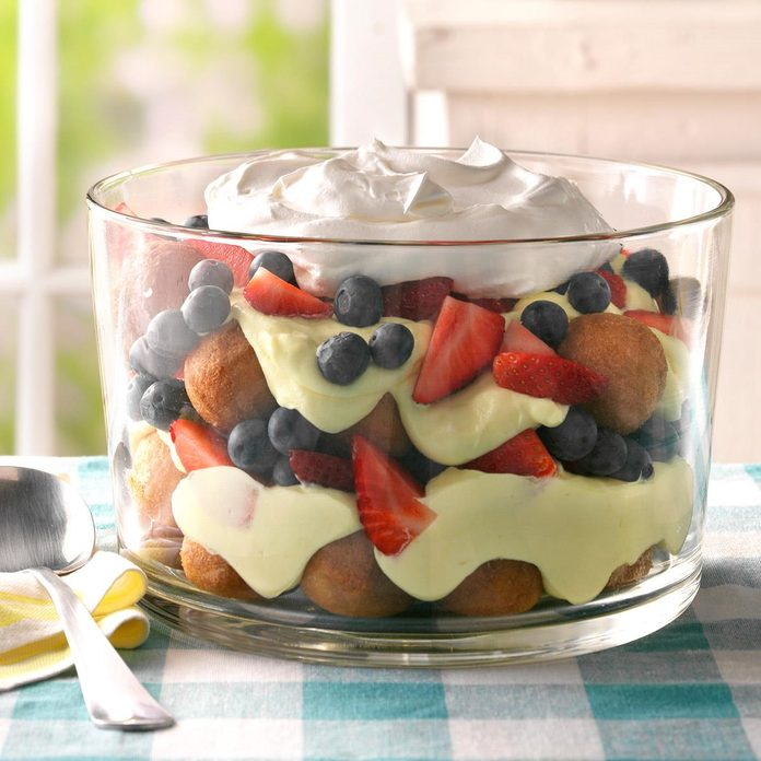 Berry, Lemon and Doughnut Hole Trifle