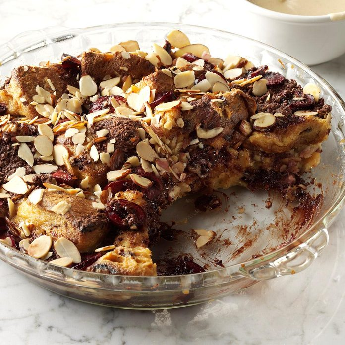 Black Forest Panettone Pudding