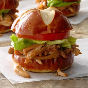 Blackberry Sriracha Chicken Sliders