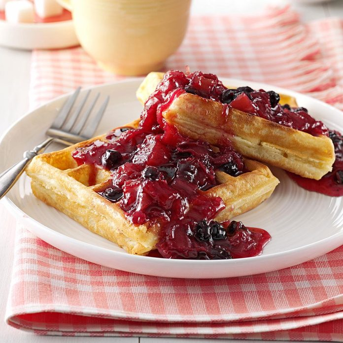 Blueberry/Rhubarb Breakfast Sauce