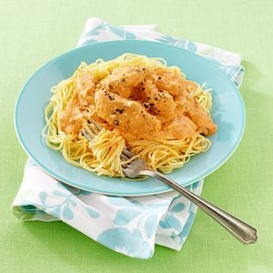 Blushing Angel Hair Pasta with Chicken