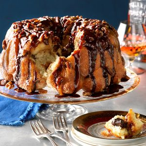 Chocolate Bourbon Pecan Monkey Bread