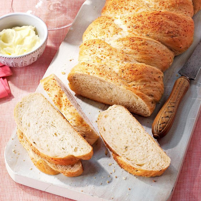 Braided Onion-Potato Loaf