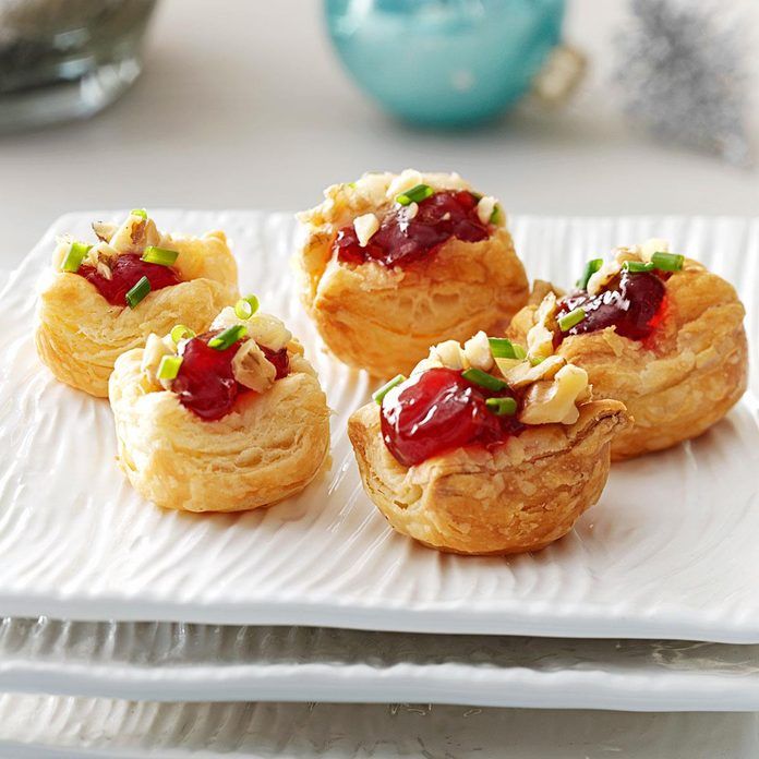 Brie Cherry Pastry Cups