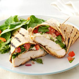 Bruschetta Chicken Wraps