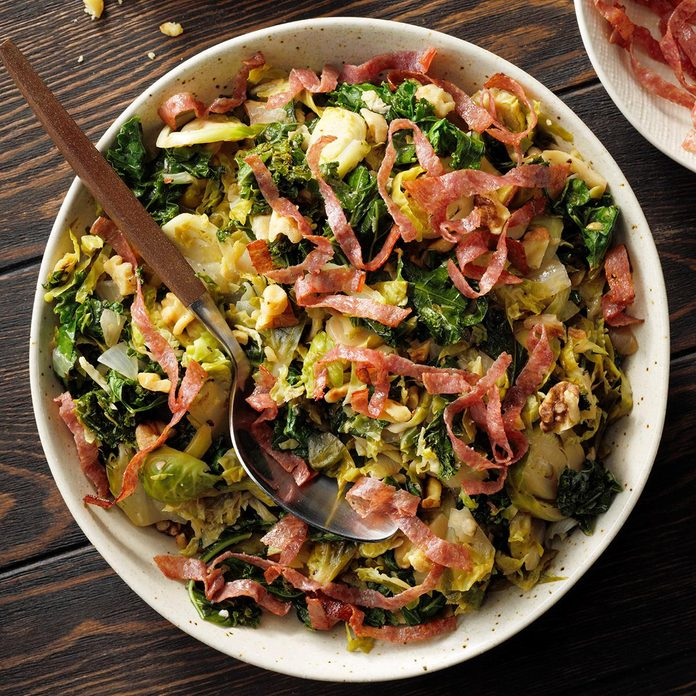 Brussels Sprouts & Kale Saute