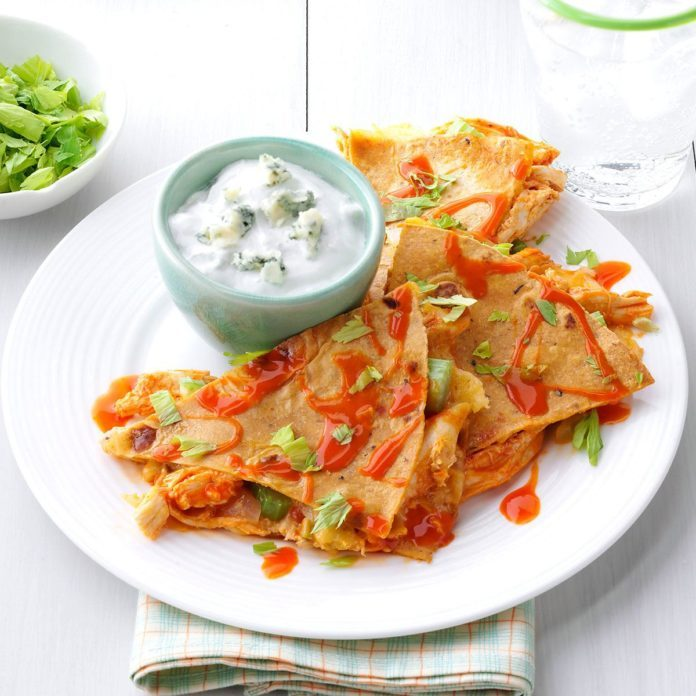 Buffalo Chicken Quesadillas