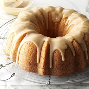 Buttermilk Cake with Caramel Icing
