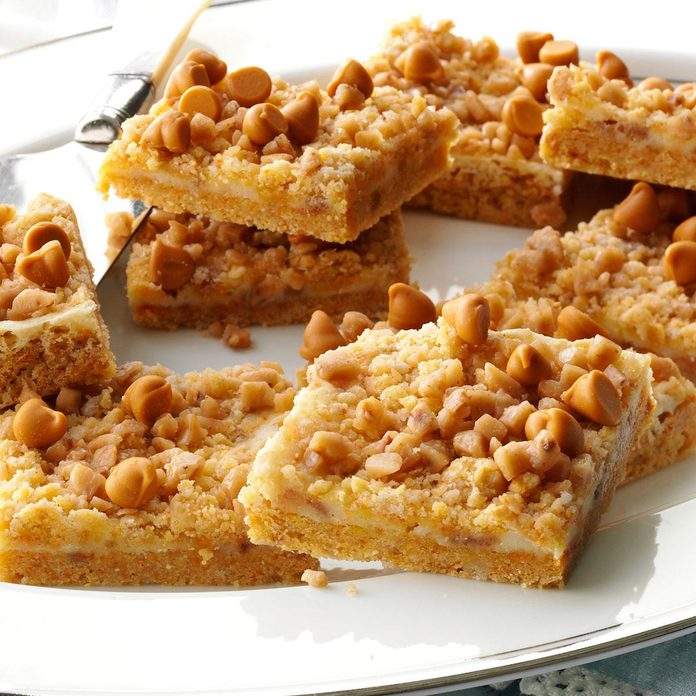 Butterscotch-Toffee Cheesecake Bars