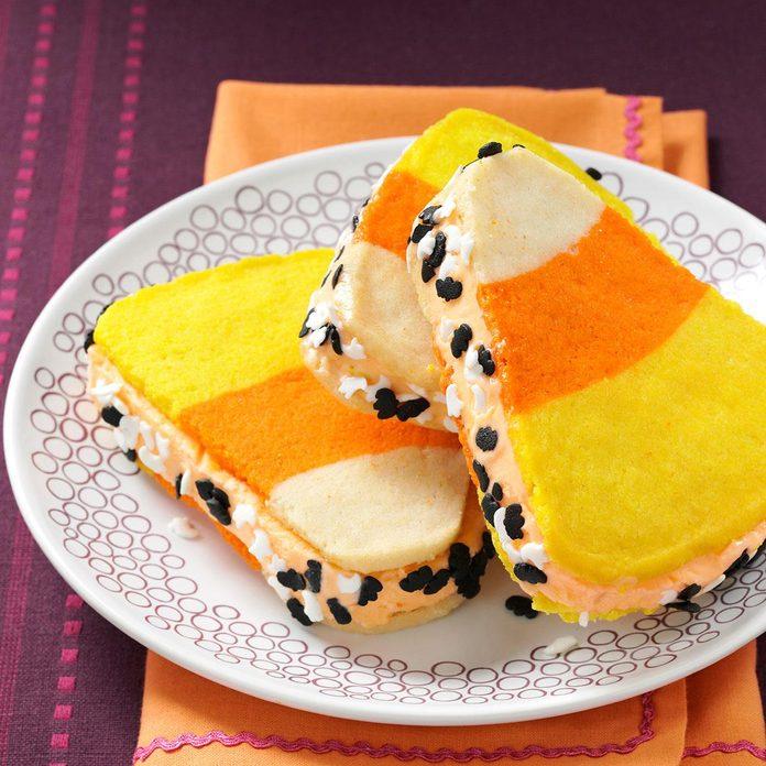 Sweet Treat: Candy Corn Ice Cream Sandwiches