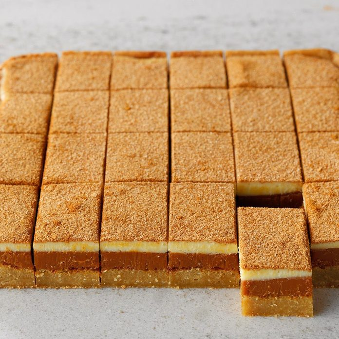 Caramel Snickerdoodle Bars