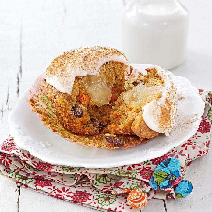 Carrot & Raisin Spice Cupcakes