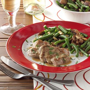 Cashew Green Beans and Mushrooms