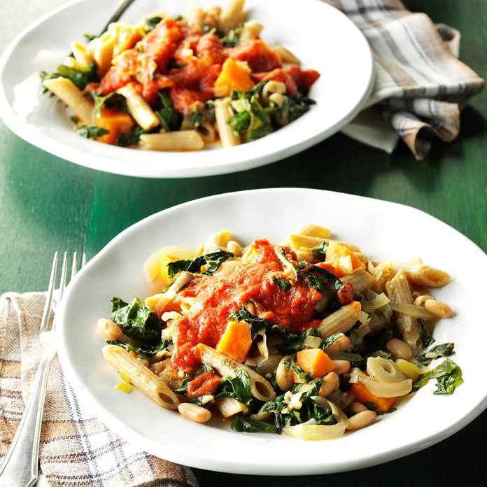 Day 23: Chard & White Bean Pasta