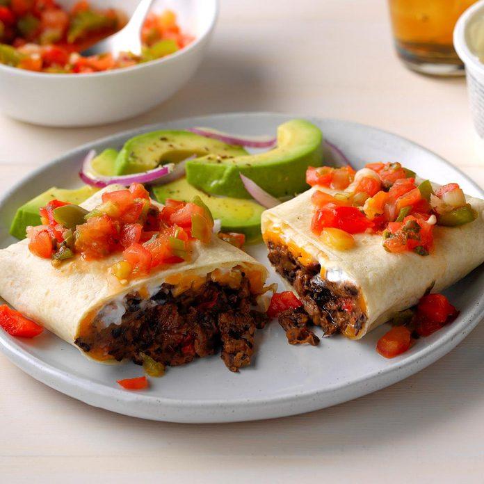August 15: Cheddar Bean Burritos