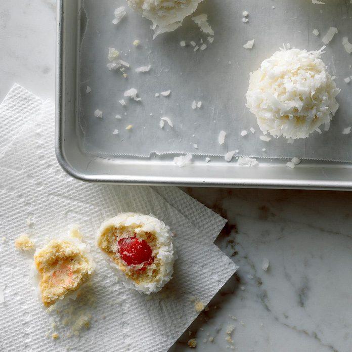 Budding Baker: Cherry Snowballs