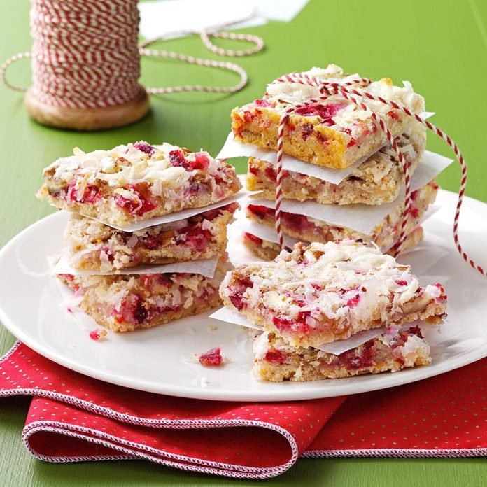 Chewy Cranberry Pecan Bars