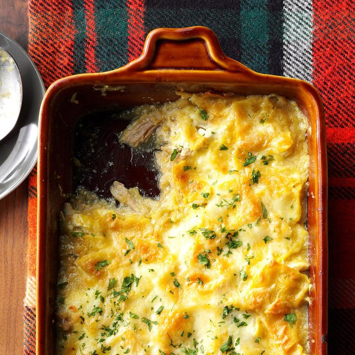 December: Chicken Enchilada Bake