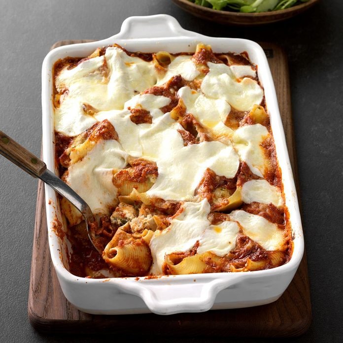December: Chicken Parmesan Stuffed Shells