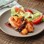 Chicken with Cherry Pineapple Sauce