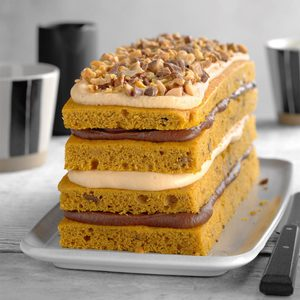 Chocolate-Caramel Pumpkin Torte