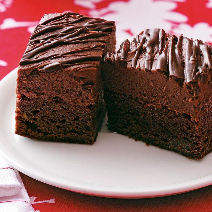 Chocolate Strawberry Truffle Brownies