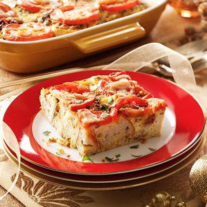 Chorizo Tomato Strata