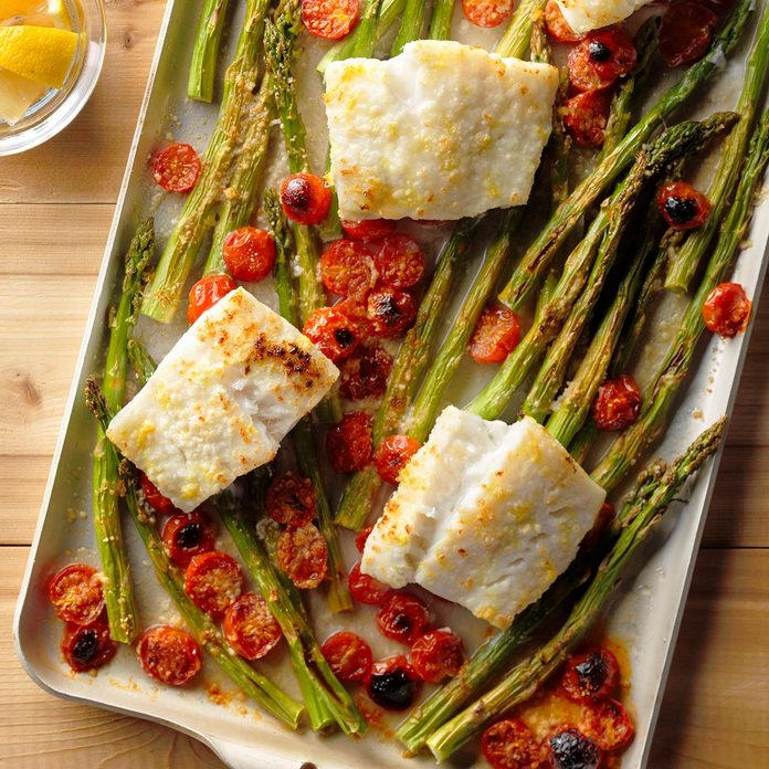 Cod and Asparagus Bake