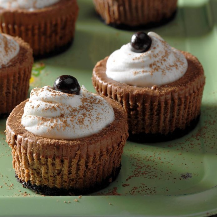 Coffee Lover's Mini Cheesecakes