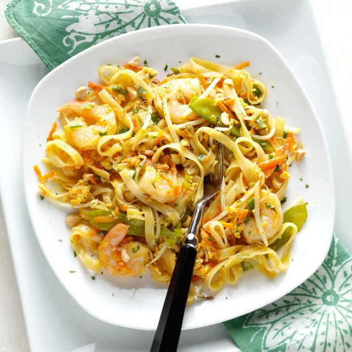 Colorful Shrimp Pad Thai