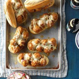 Contest-Winning Bavarian Meatball Hoagies