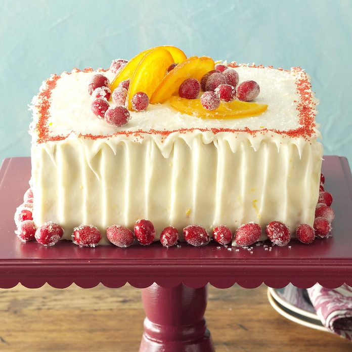 Cranberry Cake with Tangerine Frosting