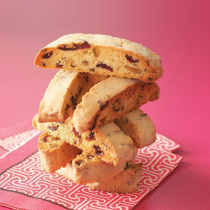 Inspired by Mat's Pistachio and Cranberry Biscotti