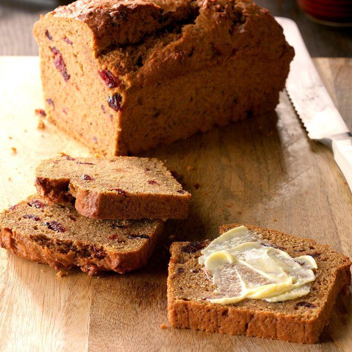 Cranberry Sweet Potato Bread